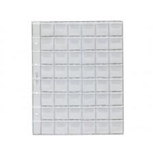 Лист для альбома формата Оптима на 48 ячеек 30*30 мм